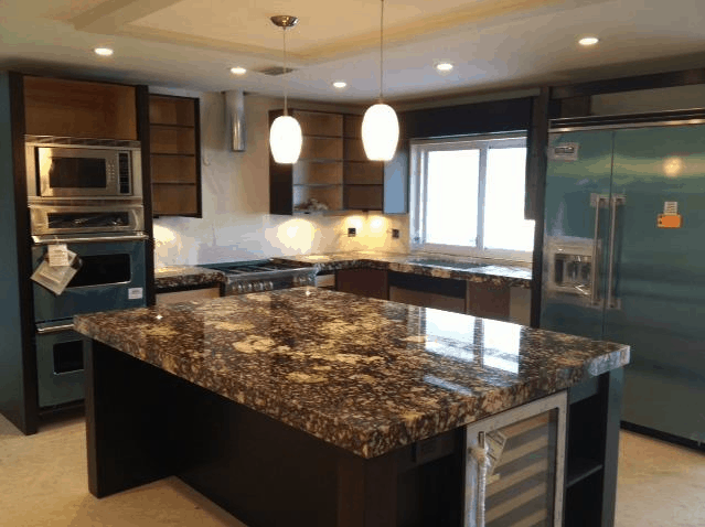 walnut kitchen cabinets granite countertops imported at the best prices miami doral 8902